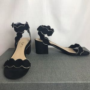Unisa Black suede block heel dress sandals. 9.5